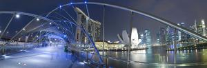 Marina Bay Sands Hotel and Helix Bridge, Singapore by Jon Arnold