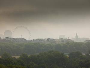 Millennium Wheel (London Eye), Big Ben and Hyde Park, London, England, Uk by Jon Arnold