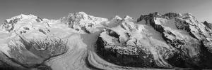 Monte Rosa Range and Gornergletscher, Zermatt, Valais, Switzerland by Jon Arnold