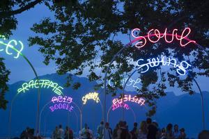 Montreux During the Jazz Festival, Lake Geneva, Vaud, Switzerland by Jon Arnold