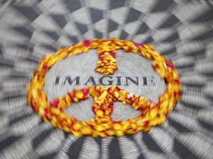 Mosaic Commemorting John Lennon, Strawberry Fields, Central Park, Manhattan, New York City, USA by Jon Arnold