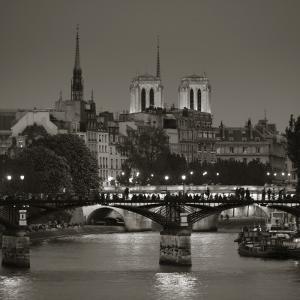 Notre Dame and Pont Des Arts, Paris, France by Jon Arnold