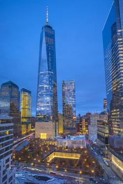 One World Trade Center and 911 Memorial, Lower Manhattan, New York City, New York, USA by Jon Arnold