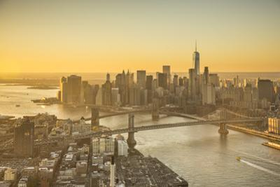 One World Trade Center, Manhattan and Brooklyn Bridges, Manhattan, New York City, New York, USA by Jon Arnold