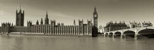 Panoramic View of Houses of Parliament, Westminster, London, England by Jon Arnold