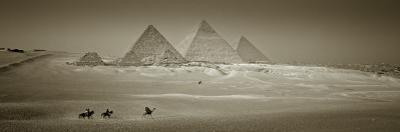 Panormic Image of the Pyramids at Giza, Cairo, Egypt by Jon Arnold