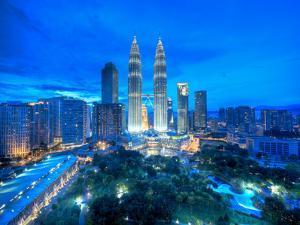 Petronas Towers and Klcc, Kuala Lumpur, Malaysia by Jon Arnold