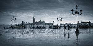 Piazza San Marco Looking across to San Giorgio Maggiore, Venice, Italy by Jon Arnold
