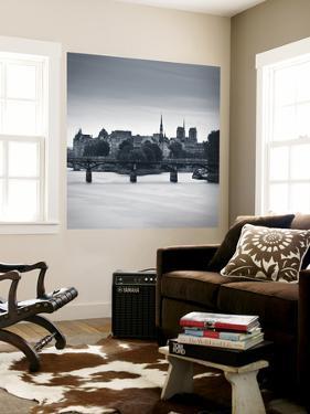 Pont Des Arts, Notre Dame Cathedral and River Seine, Paris, France by Jon Arnold