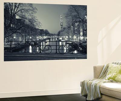 Prinsengracht and Wsterkerk, Amsterdam, Holland by Jon Arnold