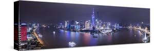 Pudong Skyline across the Huangpu River, Shanghai, China by Jon Arnold