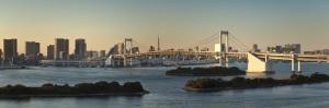 Rainbow Bridge and Tokyo Bay from Odaiba, Tokyo, Japan by Jon Arnold