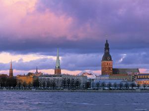 Riga from Across Daugava River, Latvia by Jon Arnold