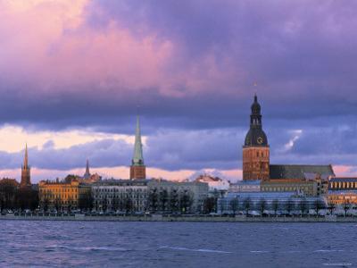 Riga from Across Daugava River, Latvia