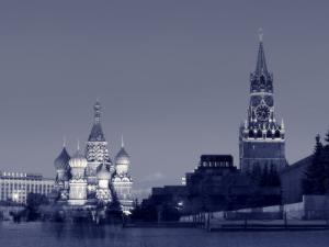 St. Basil's Cathedral and Kremlim, Red Square, Moscow, Russia by Jon Arnold