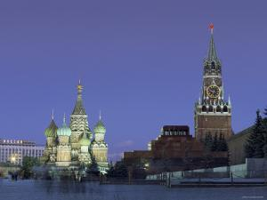 St. Basil'S, Red Square, Moscow, Russia by Jon Arnold