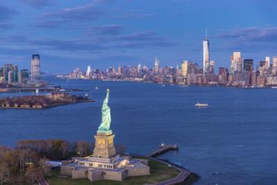 Statue of Liberty Jersey City and Lower Manhattan, New York City, New York, USA