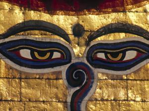 Swayambunath Stupa, Kathmandu, Nepal by Jon Arnold