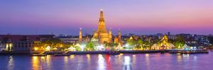 Temple of Dawn (Wat Arun) and Bangkok, Thailand by Jon Arnold