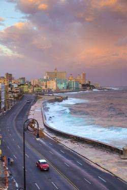 The Malecon Looking Towards Vedado, Havana, Cuba by Jon Arnold