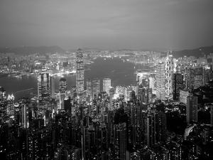 Victoria Harbour and Skyline from the Peak, Hong Kong, China by Jon Arnold