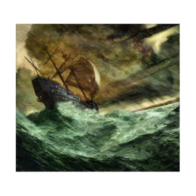 A 16th-Century Portuguese Trading Vessel Is Blown Off Course by Jon Foster