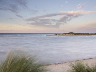 A high tide on a windy evening at Holkham Bay, Norfolk, England, United Kingdom, Europe