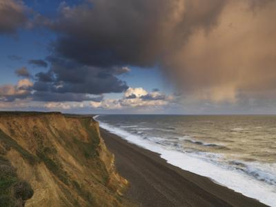A Rain Cloud Approaches the Cliffs at Weybourne, Norfolk, England