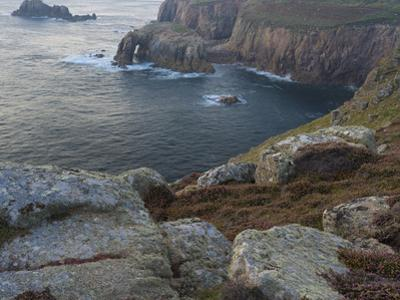 A view from the cliffs at Lands End, Cornwall, England, United Kingdom, Europe