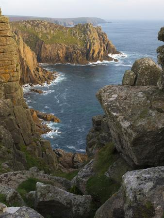 A view of Pordenack Point at Lands End, Cornwall, England, United Kingdom, Europe