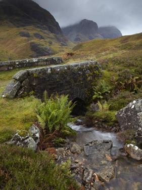 A View of the Three Sisters of Glencoe from the Military Road, Glencoe, Argyll, Scotland, United Ki by Jon Gibbs