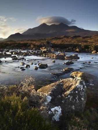 A Winter Morning View of the Mountain Sgurr Nan Gillean, Glen Sligachan, Isle of Skye, Inner Hebrid