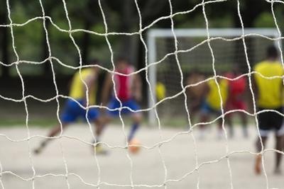 A Game of Football in Flamengo Park. by Jon Hicks