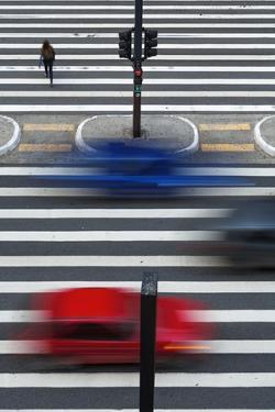 A Pedestrian Crossing on Paulista Avenue, Sao Paula. by Jon Hicks