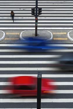 A Pedestrian Crossing on Paulista Avenue, Sao Paula. by Jon Hicks