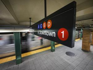 A Sign on the New York City Subway. by Jon Hicks