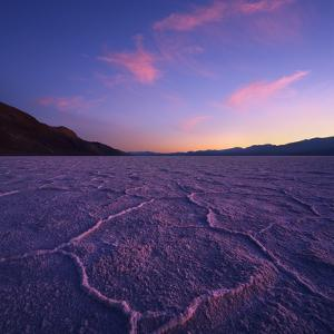 Badwater Basin at Dusk. by Jon Hicks