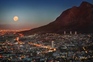 Cape Town under Full Moon by Jon Hicks