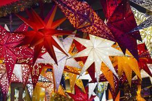 Christmas Lanterns in Market by Jon Hicks
