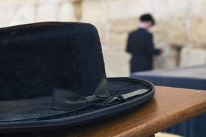 Close-Up of a Hasidic Jew's Hat at the Western Wall by Jon Hicks