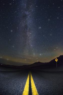 Death Valley Highway at Night by Jon Hicks