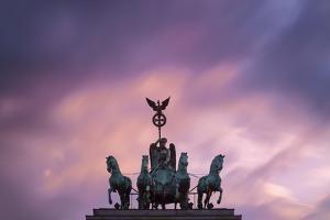 Detail of Brandenburg Gate at Dusk. by Jon Hicks