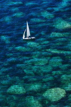 Dinghy off Bonifacio by Jon Hicks