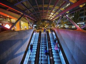 Escalators at the Entrance to a Washington DC Metro Station. by Jon Hicks