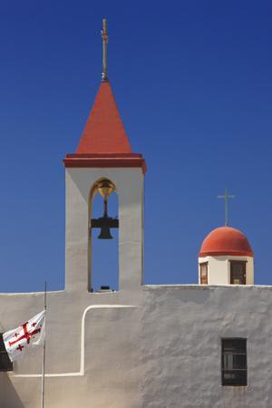 Flag of the Knights Templar at St. John's Church in Akko by Jon Hicks