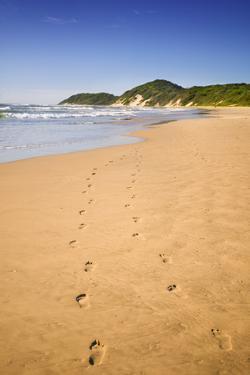 Footprints on Beach by Jon Hicks