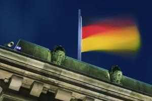 German Flag Flying from the Reichstag by Jon Hicks