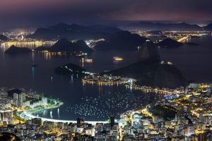 Guanabara Bay at Night, Rio De Janeiro.. by Jon Hicks