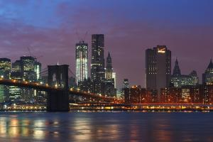 Lower Manhattan Skyline at Dusk. by Jon Hicks