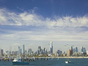 Melbourne Skyline Seen from the St. Kilda Pier by Jon Hicks